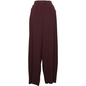 Purple Silk Crepe Luxe Straight Pants S